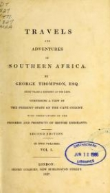 Cover of Travels and adventures in Southern Africa