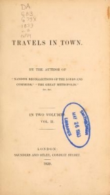 Cover of Travels in town