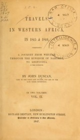 Cover of Travels in Western Africa, in 1845 & 1846