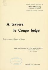 """Cover of """"À travers le Congo belge"""""""