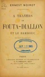 Cover of A travers le Fouta-Diallon et le Bambouc (Soudan occidental)