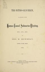Cover of Tri-nitro-glycerin
