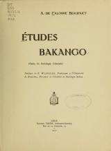 Cover of Études Bakango