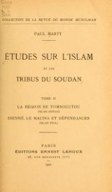 Cover of Études sur l'Islam et les tribus du Soudan