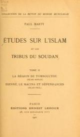 """Cover of """"Études sur l'Islam et les tribus du Soudan"""""""