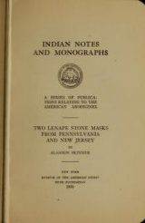 Cover of Two Lenape stone masks from Pennsylvania and New Jersey