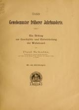 Cover of Ueber Gewebemuster früherer Jahrhunderte