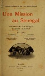 """Cover of """"Une mission au Sénégal"""""""