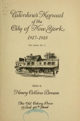 Cover of Valentine's manual of the city of New York