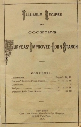 Cover of Valuable recipes for cooking Duryeas' Improved Corn Starch