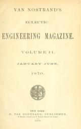 Cover of Van Nostrand's eclectic engineering magazine