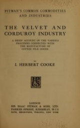 Cover of The velvet and corduroy industry