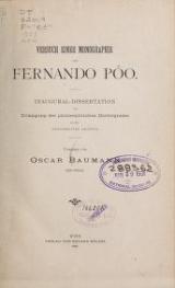 Cover of Versuch einer monographie von Fernando Póo