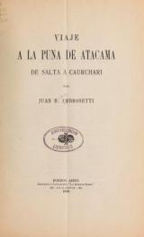Cover of Viaje a la puna de Atacama
