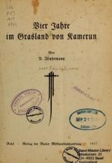 Cover of Vier Jahre im Grasland von Kamerun