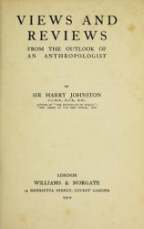 Cover of Views and reviews from the outlook of an anthropologist