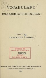 Cover of Vocabulary English-Wood Indian