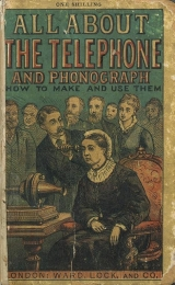 Cover of The Voice by wire and post-card. All about the telephone and phonograph