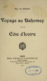 Cover of Voyage au Dahomey et à la Côte d'Ivoire