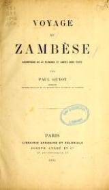 """Cover of """"Voyage au Zambèse /"""""""