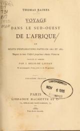 Cover of Voyage dans le Sud-ouest de l'Afrique