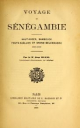 Cover of Voyage en Sénégambie