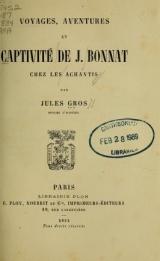 Cover of Voyages, aventures et captivité de J. Bonnat chez les Achantis