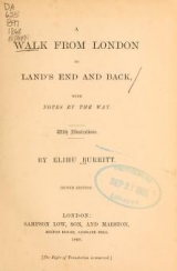 Cover of A walk from London to Land's End and back