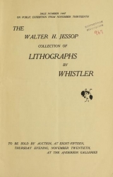 Cover of The Walter H. Jessop collection of lithographs by Whistler