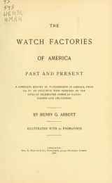 """Cover of """"The watch factories of America, past and present"""""""