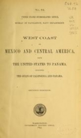 Cover of West coast of Mexico and Central America from the United States to Panama