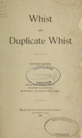 Cover of Whist and duplicate whist
