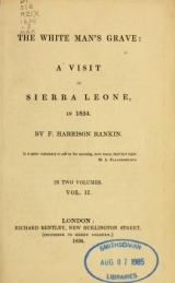Cover of The white man's grave