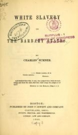 Cover of White slavery in the Barbary states