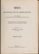 Cover of Wien am Anfang des XX. Jahrhunderts