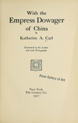 Cover of With the Empress dowager