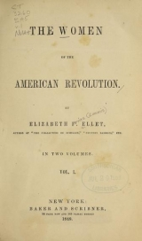 Cover of The women of the American Revolution