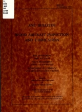 Cover of Wood aircraft inspection and fabrication