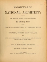Cover of Woodward's national architect