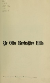 Cover of Ye olde Berkshire Hills