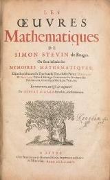 Cover of Les œuvres mathematiques de Simon Stevin de Bruges