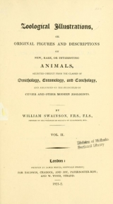 Cover of Zoological illustrations, or, Original figures and descriptions of new, rare, or interesting animals