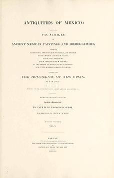 """Cover of """"Antiquities of Mexico"""""""