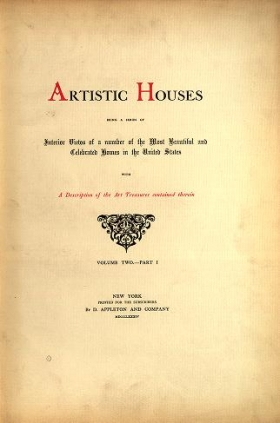 "Cover of ""Artistic houses"""