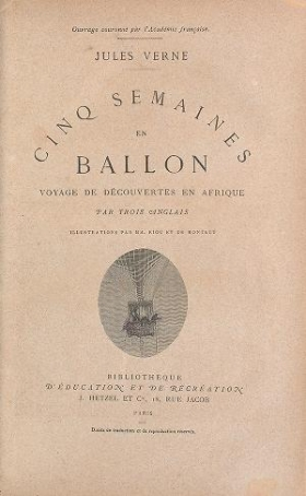 """Cover of """"Cinq semaines en ballon"""""""