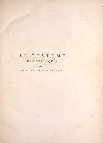 "Cover of ""Le Costume ancien et moderne"""