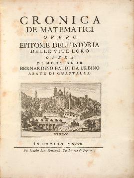 """Cover of """"Cronica de matematici, overo Epitome dell'istoria delle vite loro /"""""""