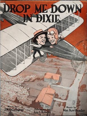 """Cover of """"Drop me down in Dixie /"""""""