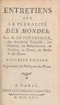 """Cover of """"Entretiens sur la pluralité des mondes /"""""""