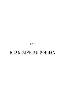 """Cover of """"Une Française au Soudan"""""""